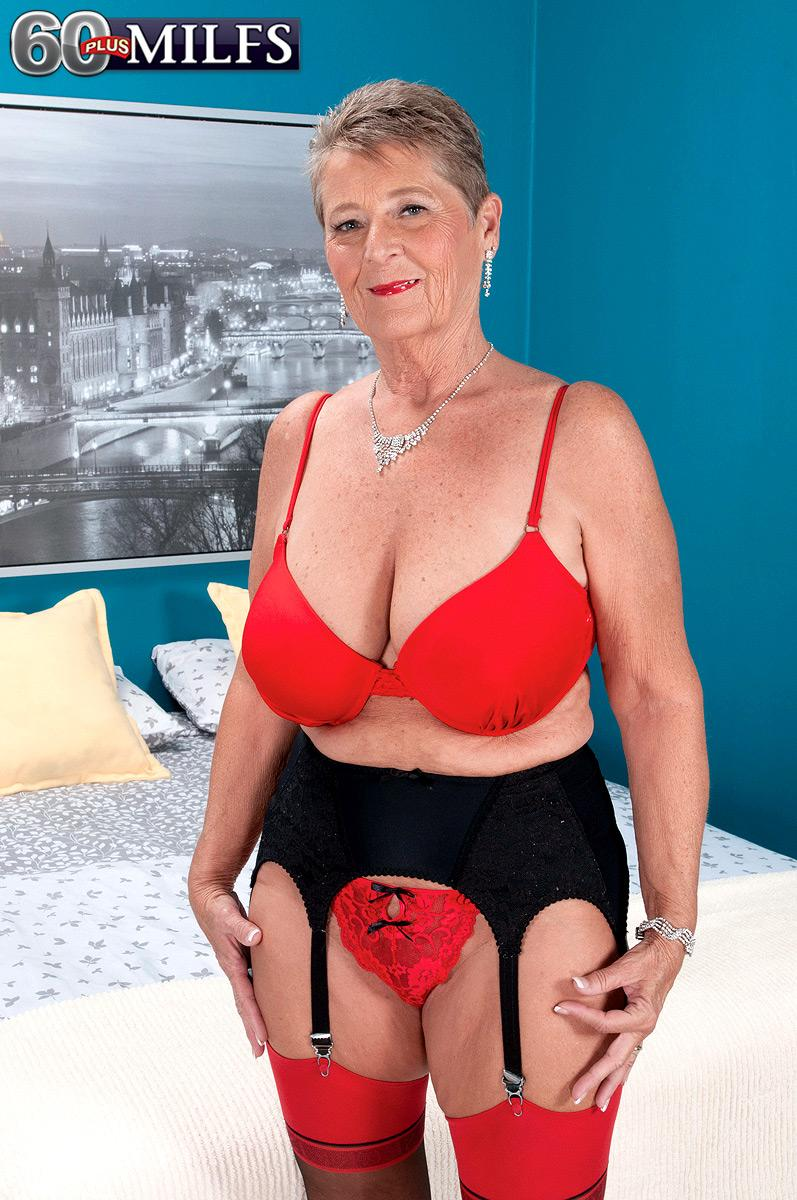 Short haired grandmother Joanne Price seducing junior man ...